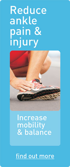 Reduce ankle pain & injury